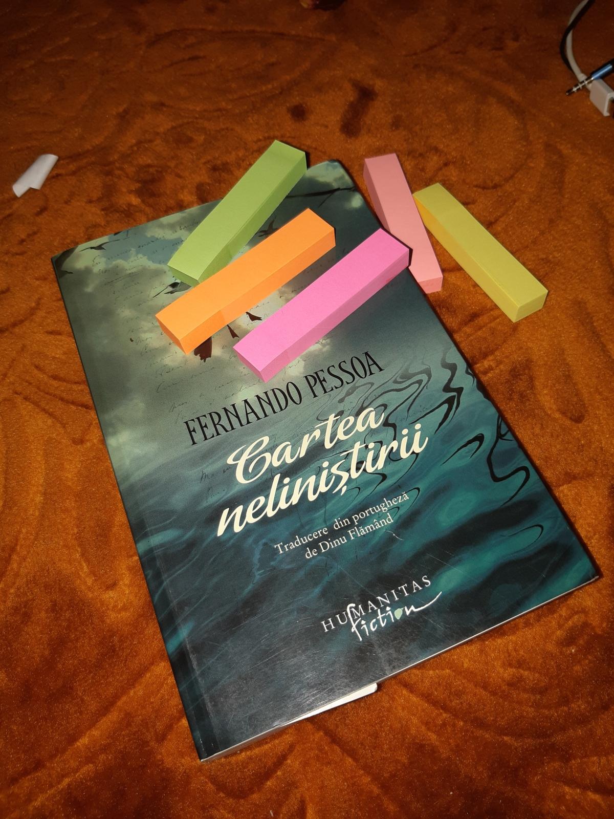 """Fernando Pessoa – """"Cartea neliniştirii"""""""
